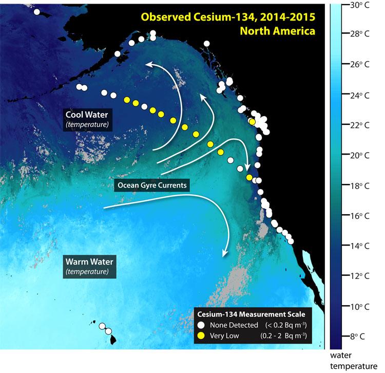 radiation west coast north america